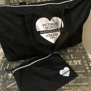 Victoria's Secret Fashion Show tote & zipper bag